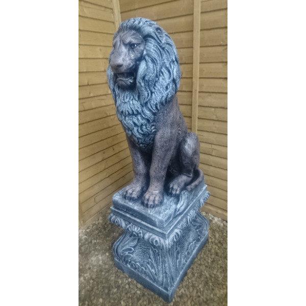 Large Lion on Pedestal