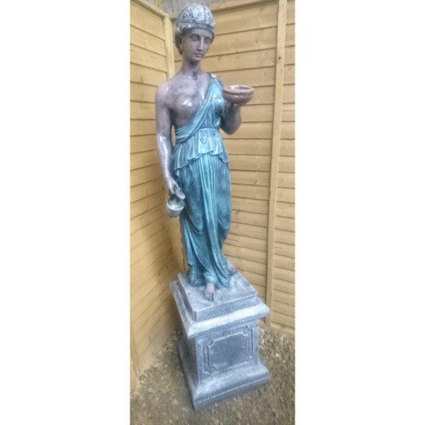 Roman Goddess on Pedestal