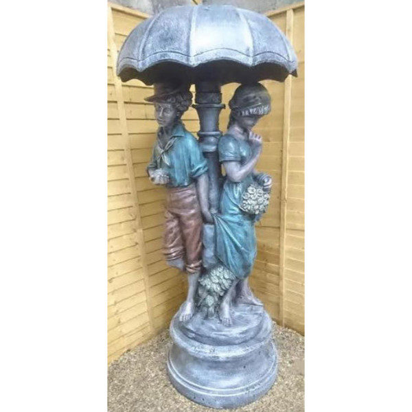 Romeo and Juliet under Umbrella Statue and Stand