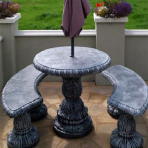 """Round 38"""" Table & 2 Benches"""