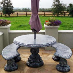 """Round 48"""" Table & 2 Benches"""