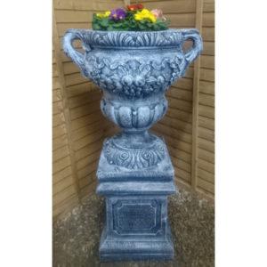 Grecian Urn on Pedestal