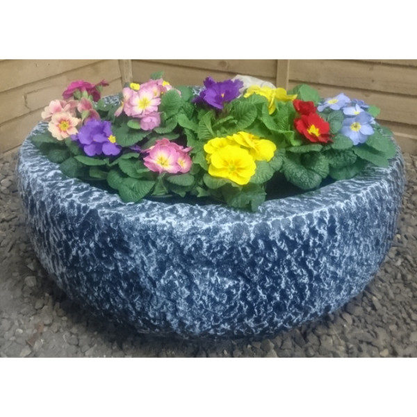 Round Stone Planter